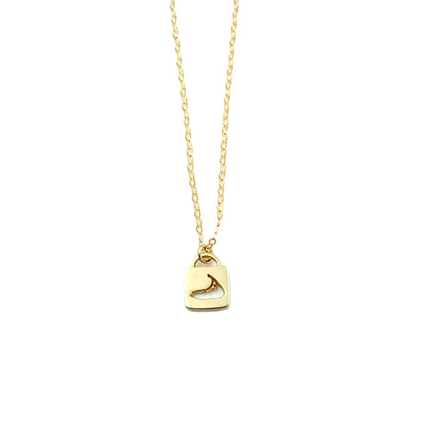 Nantucket Lock Chain Necklace