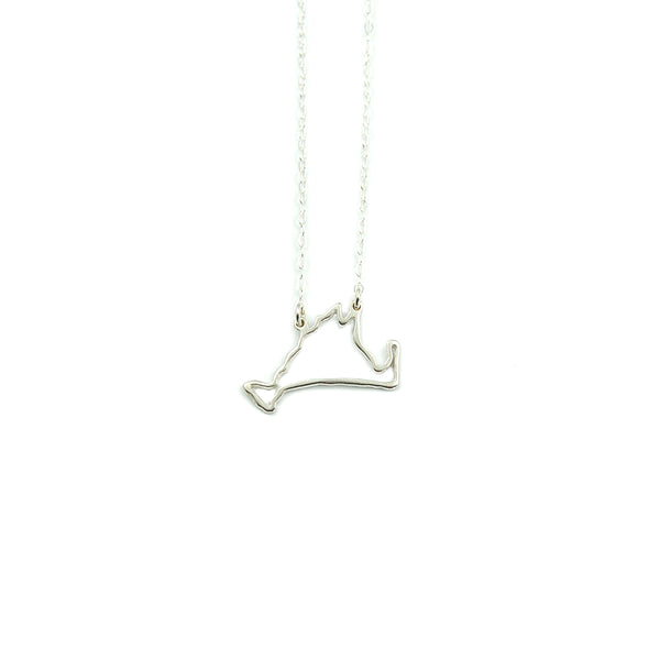 Martha's Vineyard Outline Necklace