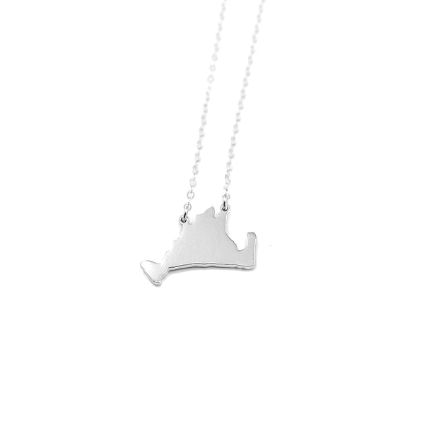 Martha's Vineyard Silhouette Necklace