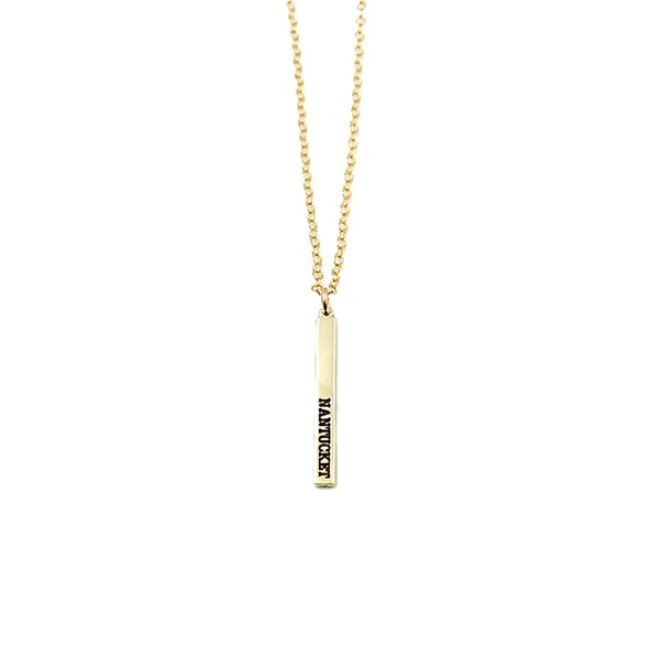 Micro Nantucket Stick Necklace
