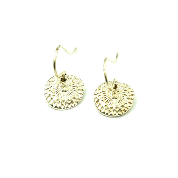 Small Sunburst Impression Earrings