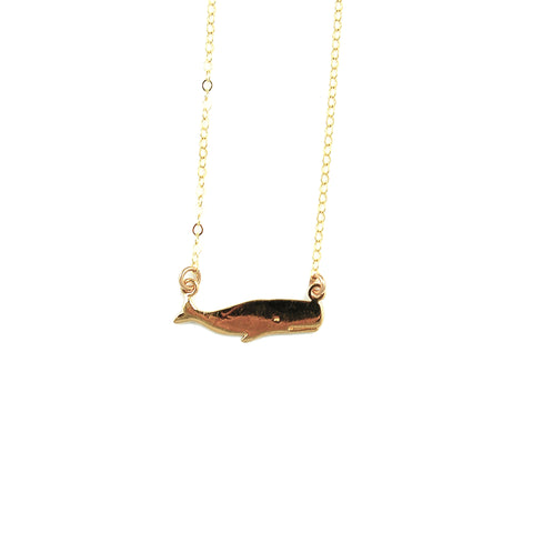 Nantucket Whale Necklace
