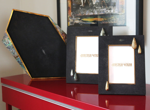 Black Shagreen Frame