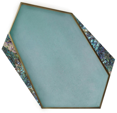 Baby Blue Shagreen & Paua Shell