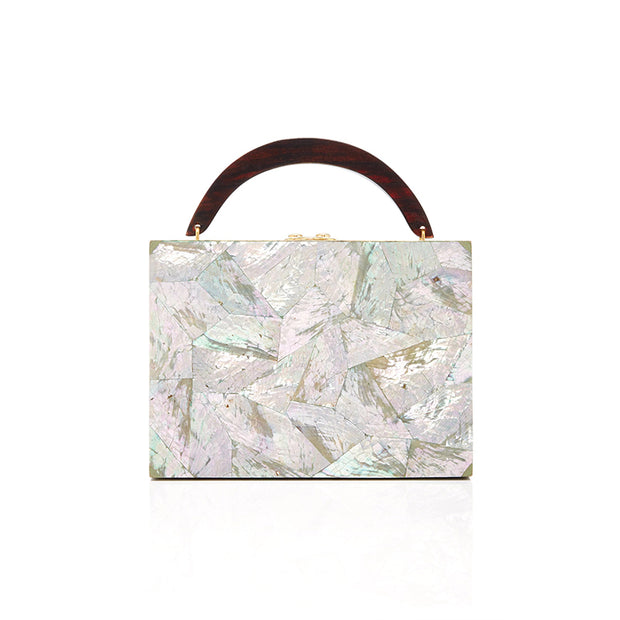 Lunch Box Clutch - Silver | Anasastasia Vitkina Design | Anastasiavitkina.com