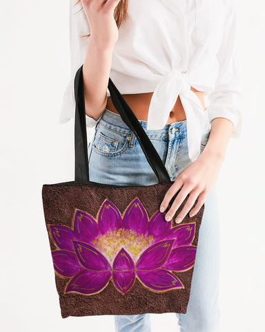 The Mud Flower  Canvas Zip Tote