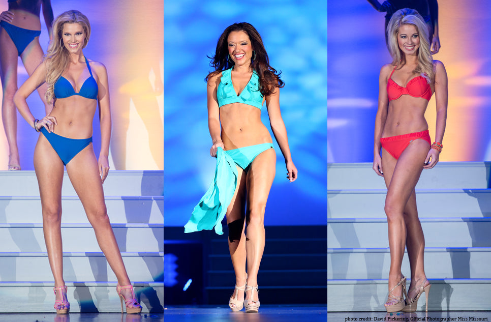 Lori Coulter Pageant Swimwear and Stage Presence Collection