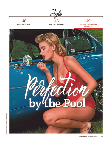 Lori Coulter Swimwear, Perfection by the Pool in the Ladue News