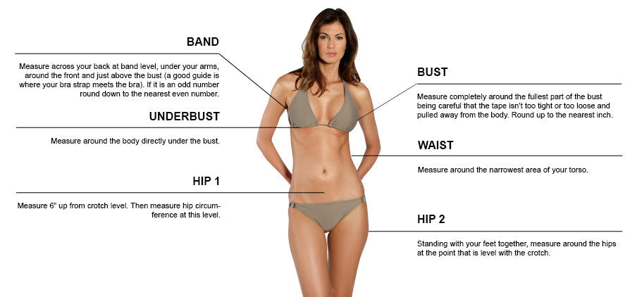 Lori Coulter Swimwear Sizing Guide