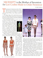 Uptown Magazine: NECESSITY is the Mother of Invention for Lori Coulter Made-to-Order Swimwear