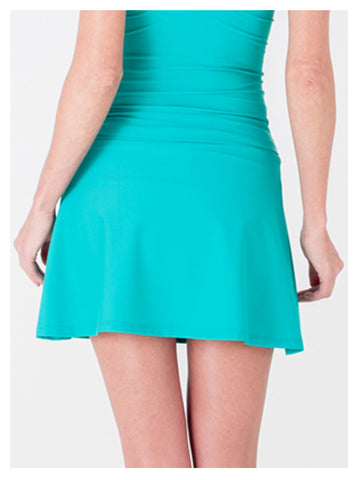 Lori Coulter Women's Teal A Line Skirt Swimsuit Cover Up