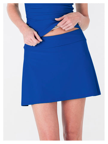 Lori Coulter Women's Royal Blue A Line Skirt Swimsuit Cover Up