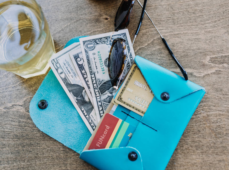 Blue Flowers - Midi Travel Wallet
