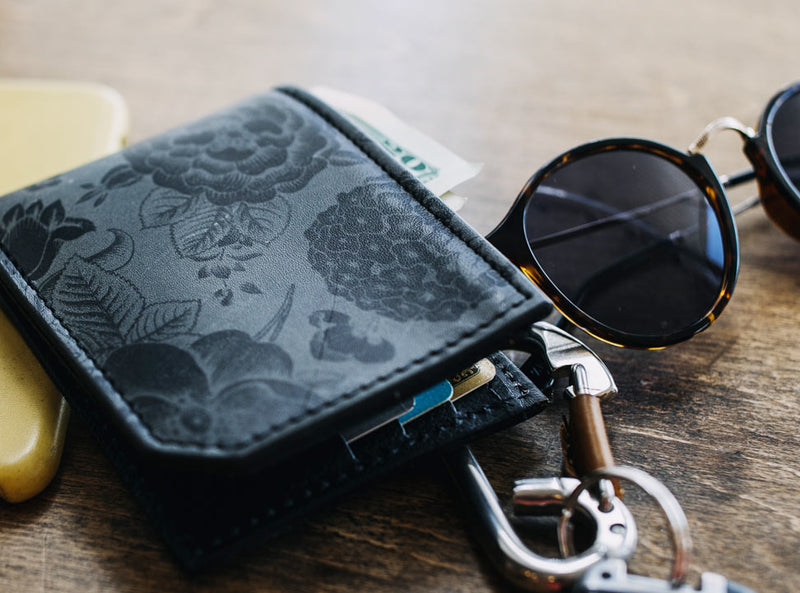 Floral Pattern - Printmaker Leather Wallet