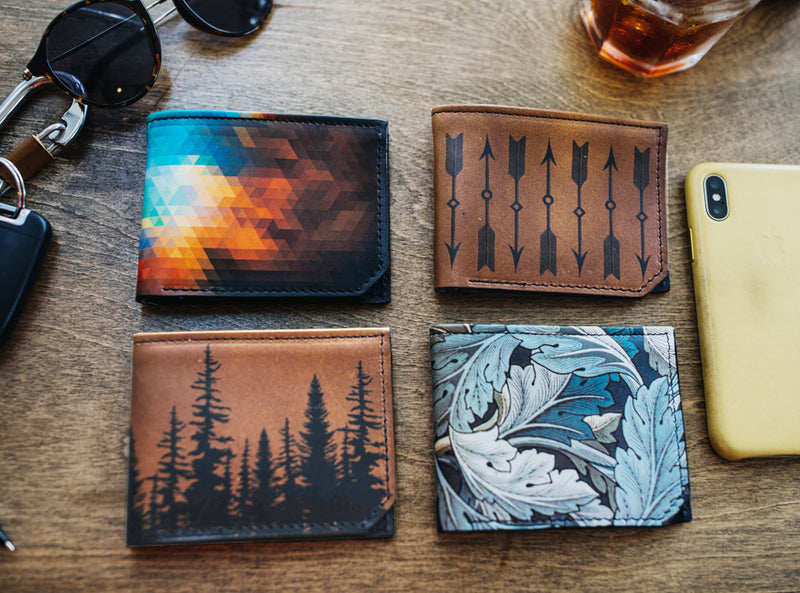 Anatomy - Printmaker Leather Wallet