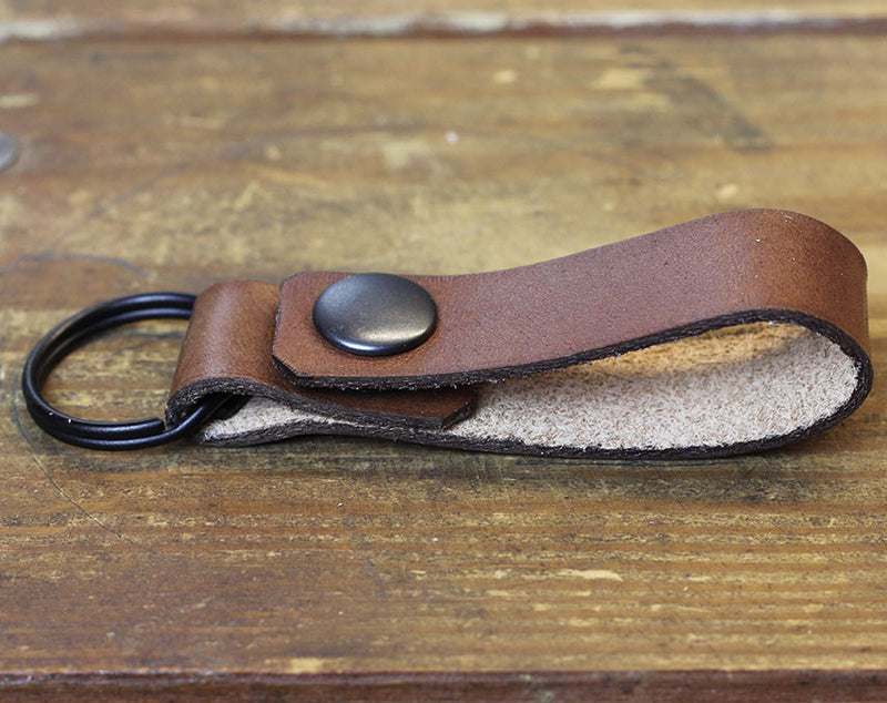 Brown Loop Keychain
