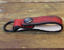 Distressed Red Loop Keychain