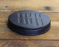 Black Screwed Coasters (Set of Four)