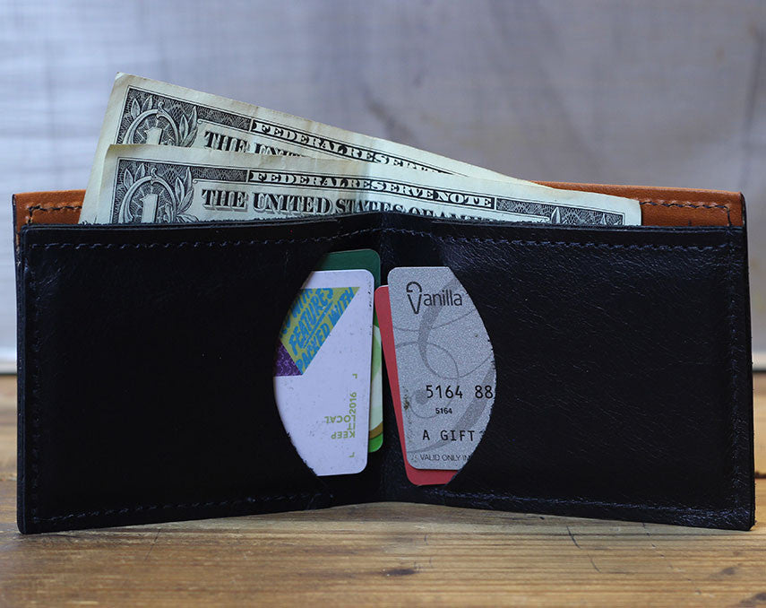 Compact Bi-Fold - Diver Leather Wallet