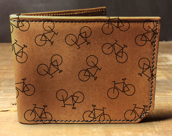 Bike Pattern - Printmaker Leather Wallet