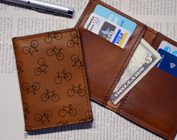 Bike Pattern - Vert Bifold Wholesale