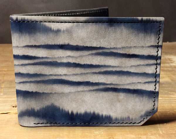 Blue Fade - Spectrum Leather Wallet