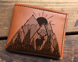 Nature - Minimal Leather Bifold