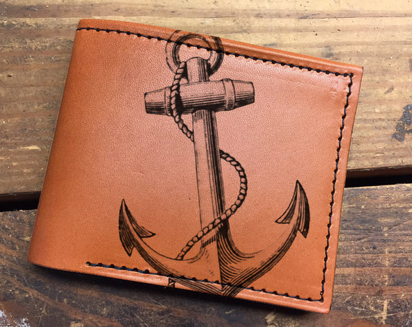 Compact Bi-Fold - Anchor Leather Wallet