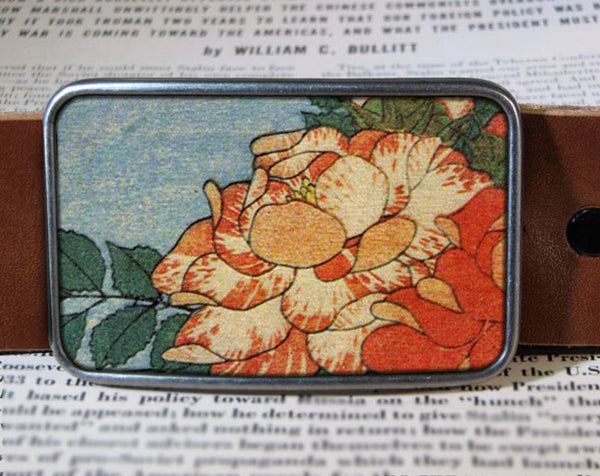 Orange Flower - Belt Buckle Wholesale
