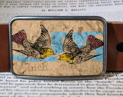 Bird Duo- Belt Buckle Wholesale