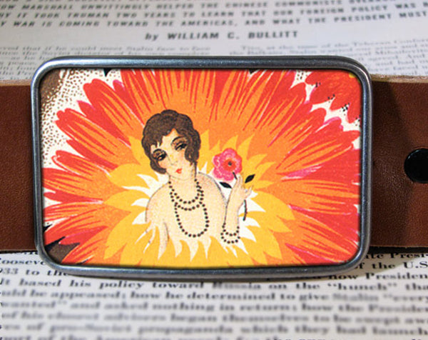 Flower Girl - Belt Buckle Wholesale