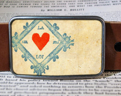 Heart Card - Belt Buckle Wholesale