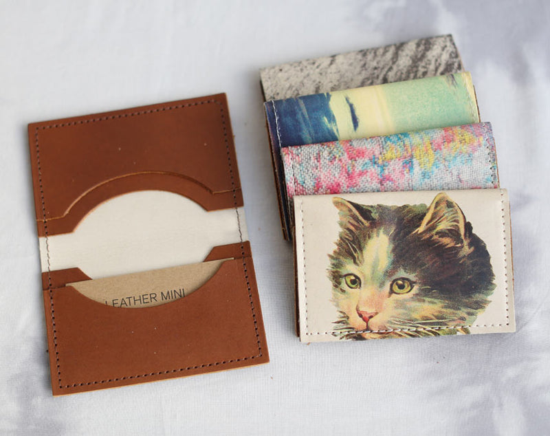 Horses - Leather Cardholder Wallet