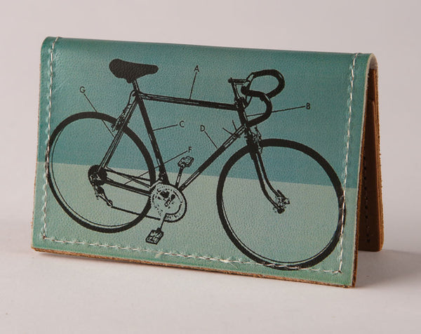 Bike Diagram - Leather Cardholder Wallet