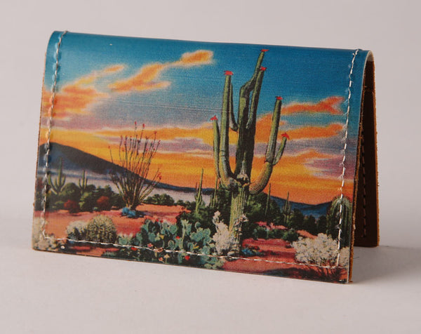 Cactus Eve - Leather Cardholder Wallet