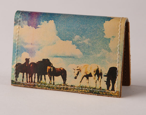 Horses - Leather Cardholder Wallet Wholesale