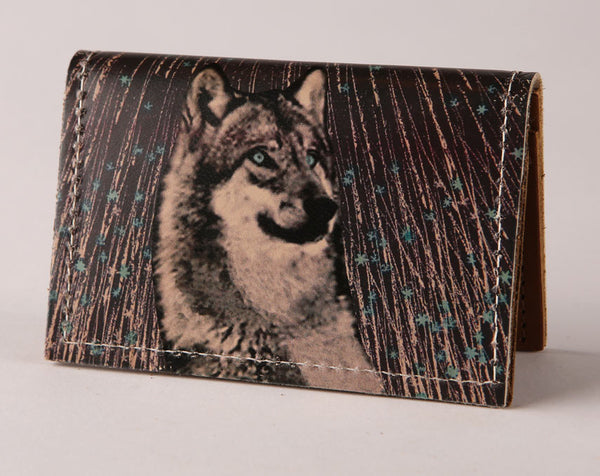 Star Wolf - Leather Cardholder Wallet Wholesale