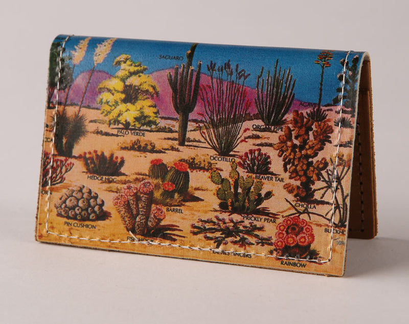 Cacti - Leather Cardholder Wallet