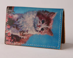 Kitty - Leather Cardholder Wallet
