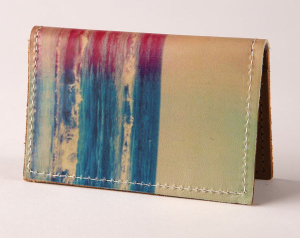 Ocean Waves - Leather Cardholder Wallet Wholesale