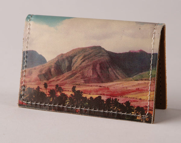 Painted Mountain - Leather Cardholder Wallet