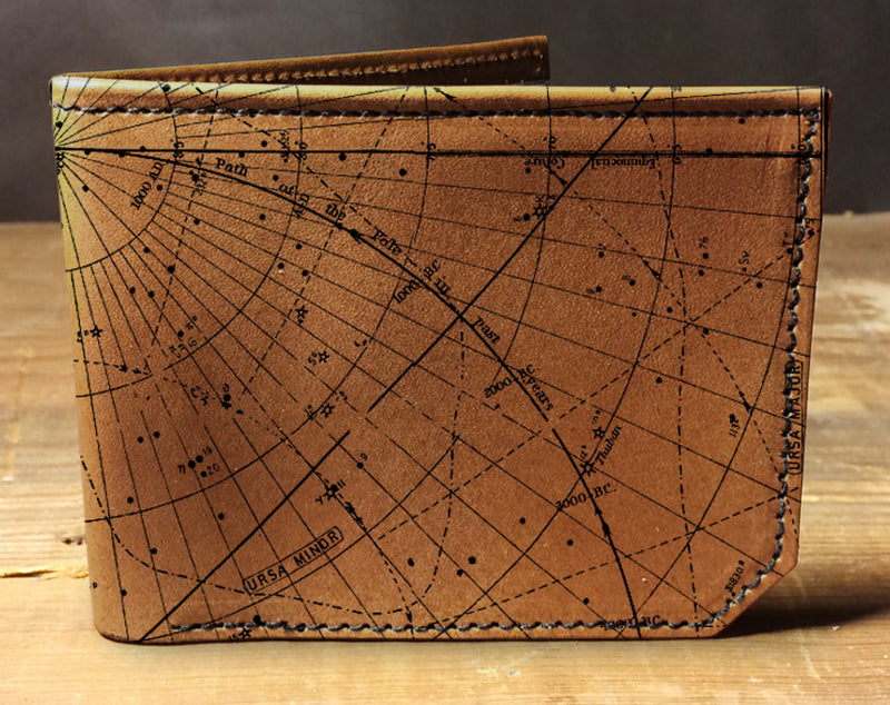 Star Map - Printmaker Leather Wallet