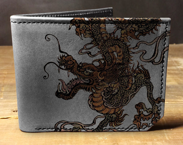 Dragon - Printmaker Leather Wallet