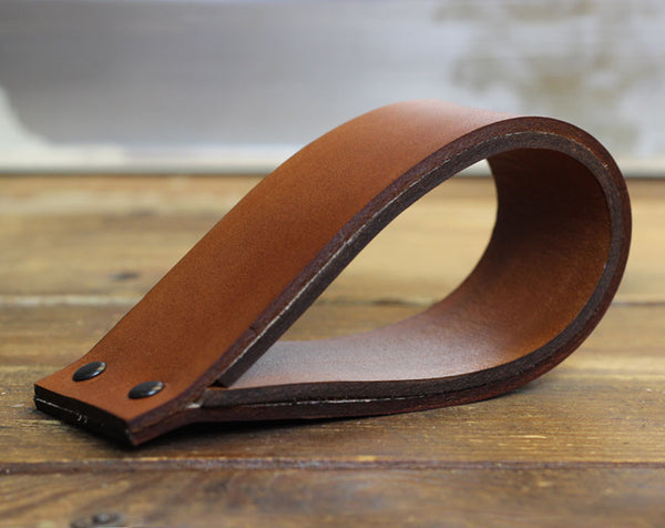 British Tan Leather Doorstop