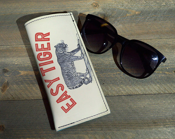 Easy Tiger - Printed Leather Eyeglasses Case Wholesale