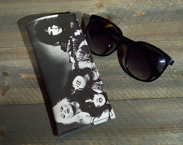 The Crew - Printed Leather Eyeglasses Case