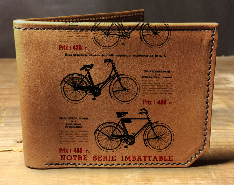 French Bikes - Printmaker Leather Wallet