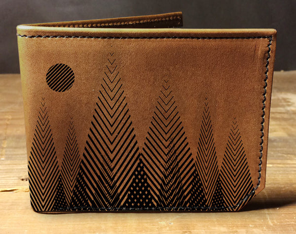 Geometric Trees - Printmaker Leather Wallet