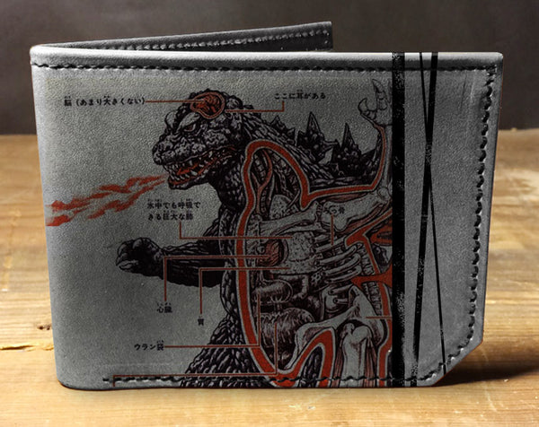 Godzilla - Printmaker Leather Wallet