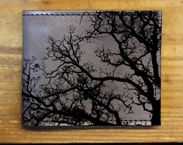 Compact Bi-Fold - Tree Leather Wallet